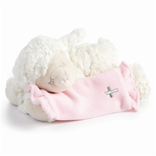 "9.5"" Nat & Jules Pink Now I Lay Me Down To Sleep Lamb"