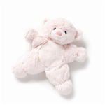 "10.5"" Nat & Jules SB Pink Bear Flatso with Rattle"