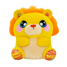 Hear her roar! Mia the lion may be cute and cuddly, but she also loves playing tag and pouncing on her friends.