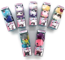 Mystery Box Toys - each pack includes one mystery stuffed animal character for your child to open themselves as a fun squishy toy surprise.