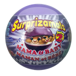 Surprizamals are small, cute and cuddly, animals that come with a big surprise. Mama & Baby included.