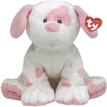 "Ty Baby 10"" Baby Pups Pink Spotted Dog"